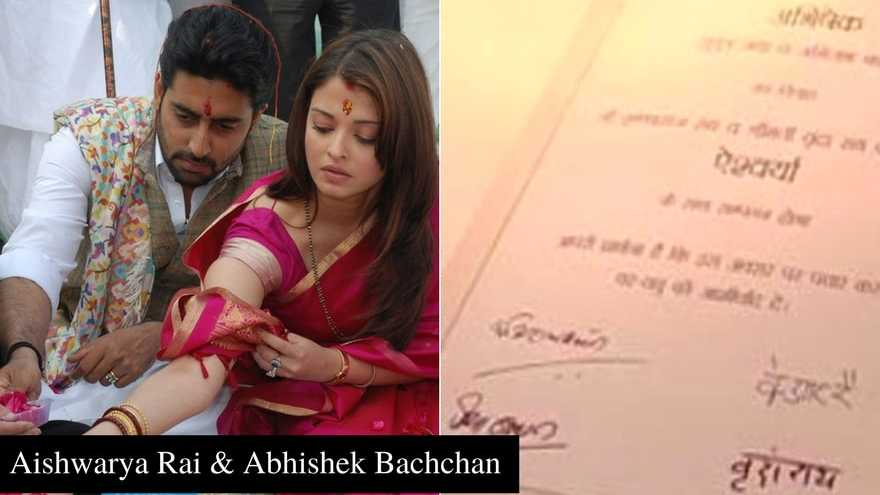 From Kareena To Aishwarya 11 Most Interesting Wedding Cards Of